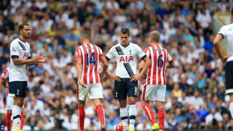 Lamela cam on as a late sub as Spurs drew 2-2 against Stoke City after being two goals ahead