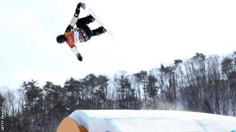 Max Parrot in action at the Winter Olympics