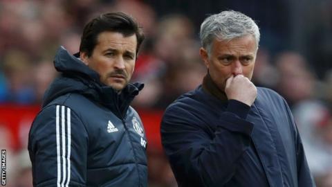 Rui Faria (left) and Jose Mourinho