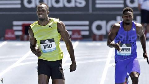 Usain Bolt labours to 200m victory last month