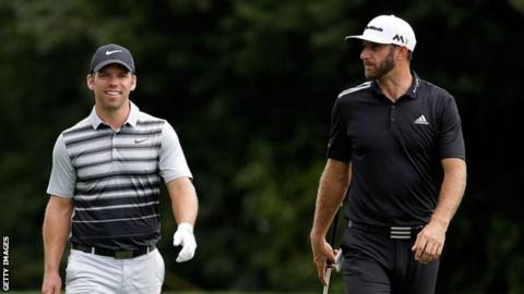 Paul Casey and Dustin Johnson