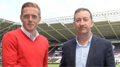 Garry Monk and Huw Jenkins