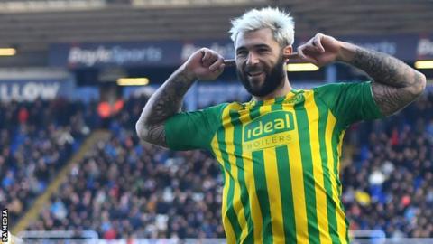 West Bromwich Albion striker Charlie Austin