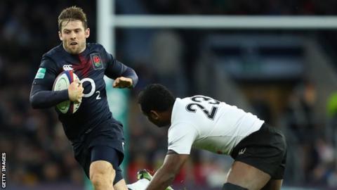 England v Fiji in 2016