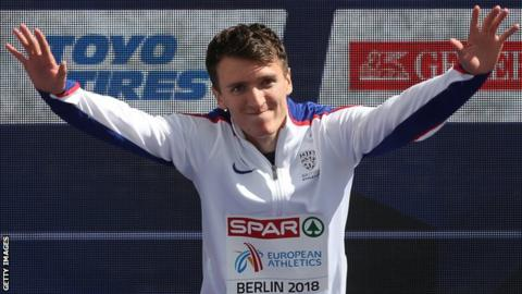 Jake Wightman celebrates his European Championship bronze