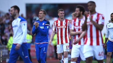 Stoke dropped into the Championship thanks to a 2-1 home defeat by Crystal Palace on Saturday