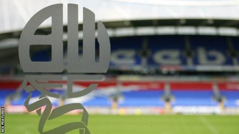 Bolton Wanderers are 23rd in the Championship and eight points adrift of safety