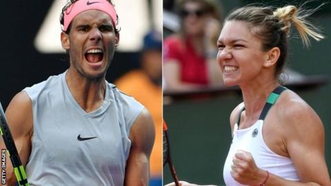 Rafael Nadal and Simona Halep