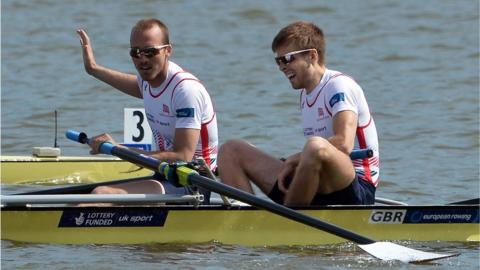 Coleraine rowers Peter Chambers and Joel Cassells won gold for Great Britain in the lightweight pairs at the European Championships in Poland. Cassells went on to partner Sam Scrimgeour to gold at the World Championships in France in September