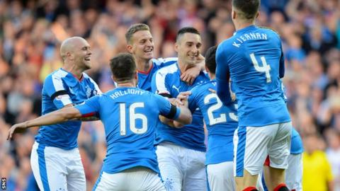 Lee Wallace scored twice for Rangers in the first half