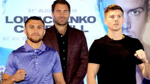 Vasyl Lomachenko (left) and Luke Campbell