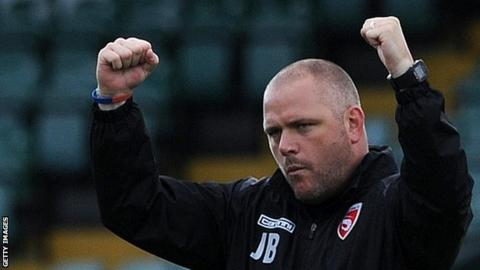 Morecambe boss Jim Bentley is the longest-serving manager in the top four tiers of English football