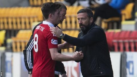 Derek McInnes and Ryan Christie