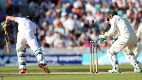 Jos Buttler is bowled