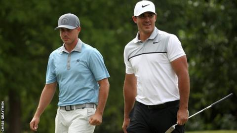 Chase Koepka (left) and Brooks Koepka at the Zurich Classic in April.