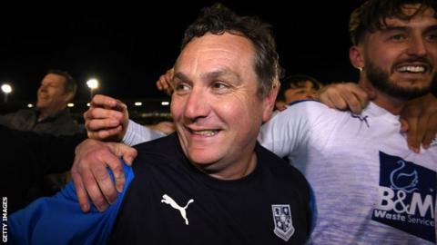 Micky Mellon led Tranmere Rovers to consecutive promotions in his four-year reign