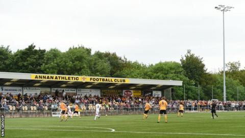 Annan Athletic at their Galabank home