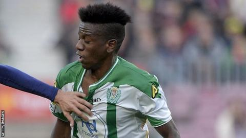 The late Patrick Ekeng in action with Spanish side Cordoba