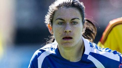 Karen Carney in action