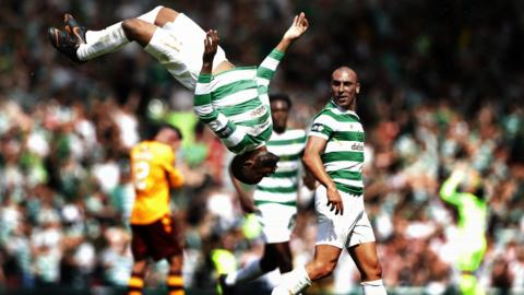 GLASGOW, SCOTLAND - MAY 19: Olivier Ntcham of Celtic celebrates after scoring his team's second goal during the Scottish Cup Final between Celtic and Motherwell at Hampden Park on May 19, 2018 in Glasgow, Scotland. (Photo by Ian MacNicol/Getty Images)