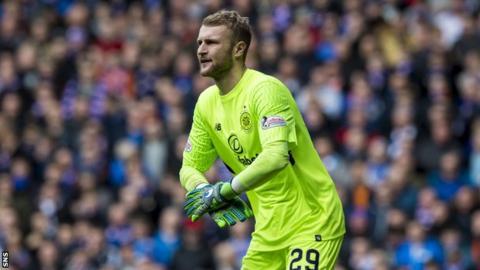 Scott Bain in goal for Celtic