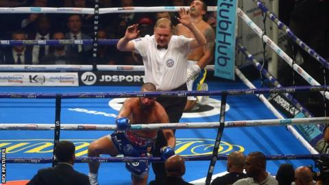 Tony Bellew is stopped by Oleksandr Usyk