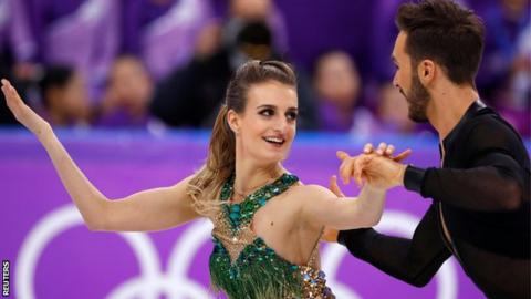 Wardrobe malfunction but French figure skaters still second at Winter Olympics