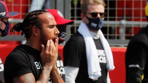 Lewis Hamilton and Nico Hulkenberg