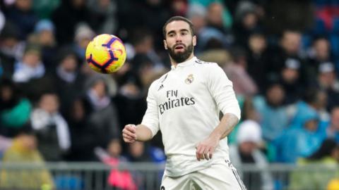Dani Carvajal of Real Madrid