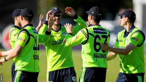 Ireland won by a single run after a dramatic finish at Malahide Castle