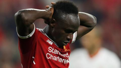 Sadio Mane looks dejected