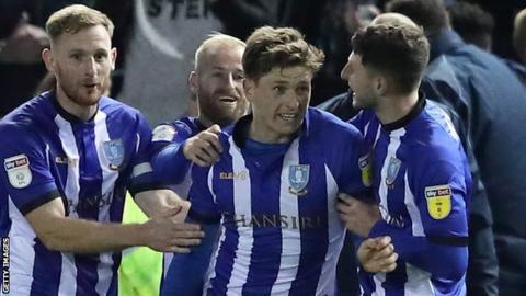 Adam Reach (centre) has scored three goals for Sheffield Wednesday this season
