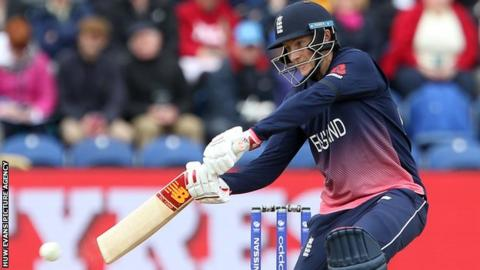 Joe Root in action for England in Cardiff