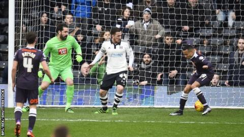 Derby's Marcus Olsson scored a first-half own goal