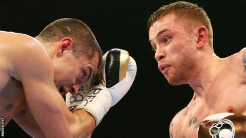 Carl Frampton outpointed Bury's Scott Quigg in a super-bantamweight unification contest in February