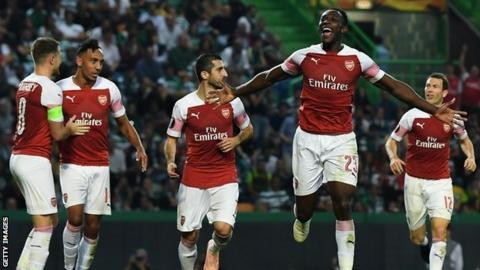 Predicted 4-2-3-1 Arsenal Lineup To Face Sporting CP