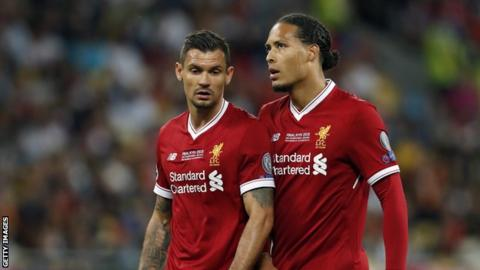 Dejan Lovren and Virgil van Dijk