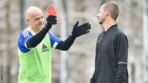 Fifa president Gianni Infantino and Uefa president Aleksander Ceferin