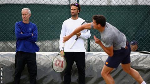 Milos Raonic, John McEnroe, Carlos Moya