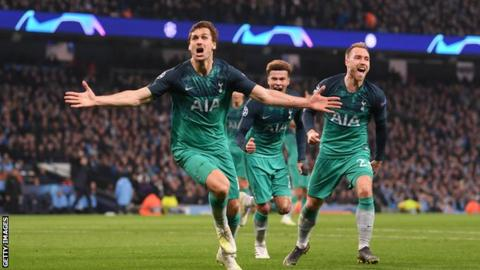 Manchester city vs tottenham hotspur 4-3 highlights