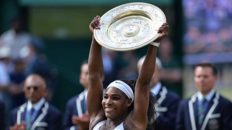Serena Williams won Wimbledon for the sixth time