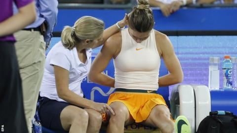 Injury forces Halep to withdraw from WTA Finals