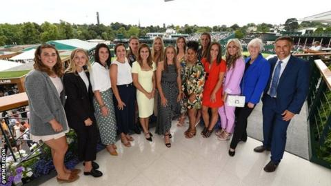 Wimbledon 2019: Lionesses enjoy day out in Royal Box