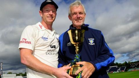 Paul Collingwood and Geoff Cook
