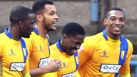 Mansfield players celebrates