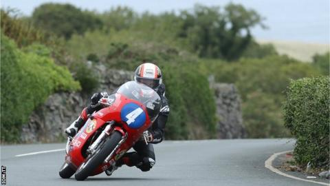 Michael Rutter racing in the Classic TT