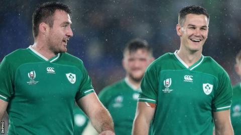 Niall Scannell and Johnny Sexton