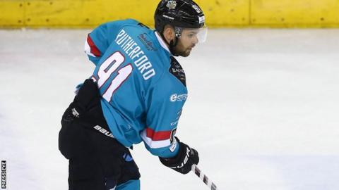 David Rutherford scored both Belfast Giants goals in the Challenge Cup opener in Scotland