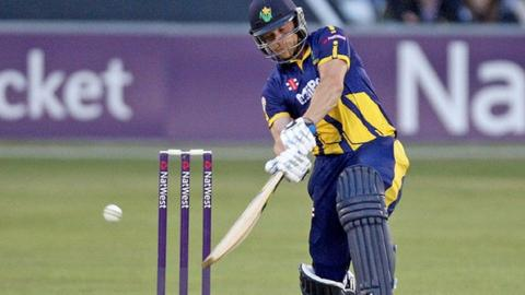 Graham Wagg hits out for Glamorgan against Essex