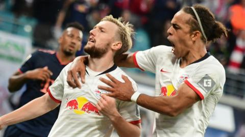RB Leipzig celebrate
